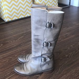 Grey Frye knee high boots